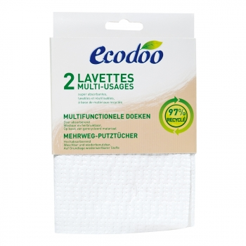 ECODOO - Lavettes multi-usages