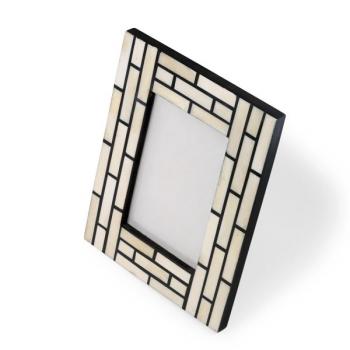 Cadre Photo Brique Blanc et Noir