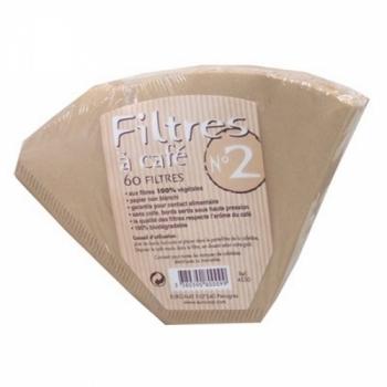 PRIMÉAL Filtres à Café N°2 (petit) aux fibres 100% végétales