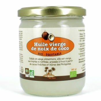 Huile vierge de coco bio & équitable 380 ml