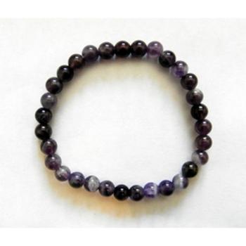 Bracelet perles Améthyste 27