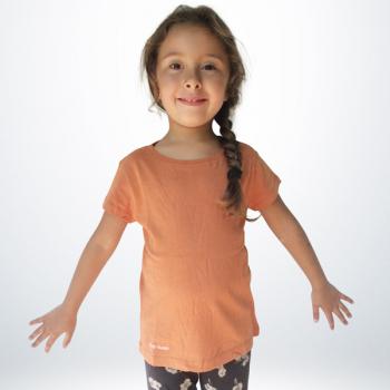 T-Shirt Coton Fille Orange Sahara