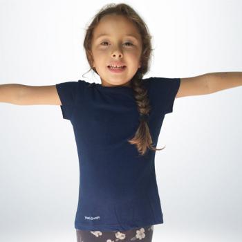 T-Shirt Coton Fille Bleu nuit
