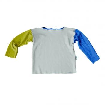 T-Shirt manches longues bleu et vert