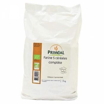 PRIMEAL - Farine 5 céréales complète bio