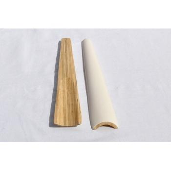BIBOL - Couverts En Bambou Laqué - TIA M Blanc mat