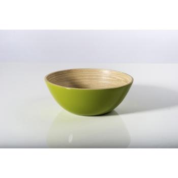 BIBOL - Coupelle Sans Pied En Bambou Laqué - TIT Olive