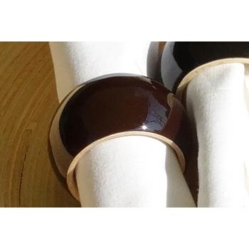 BIBOL - Rond De Serviette En Bambou Laqué - VONG Cacao