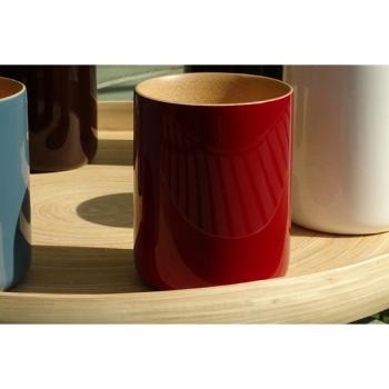BIBOL - Mug En Bambou Laqué - LY Cerise