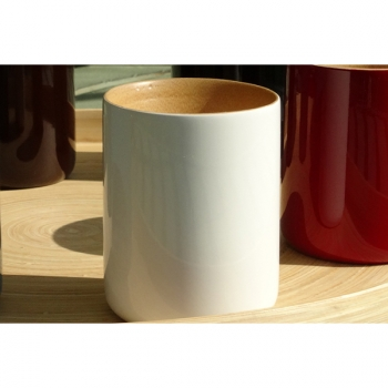 BIBOL - Mug En Bambou Laqué - LY Blanc