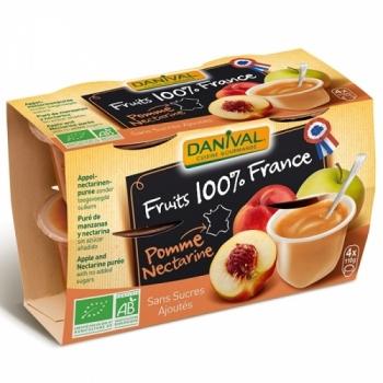 DANIVAL - Purée 100% France Pomme Nectarine
