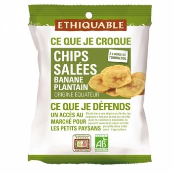 ETHIQUABLE - Chips salées Banane Plantain