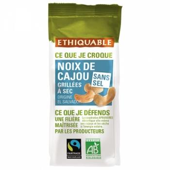 ETHIQUABLE PROMO DÉCOUVERTE - Noix de Cajou Grillées à Sec SANS SEL 100g bio & équitable