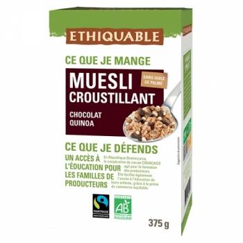 ETHIQUABLE Muesli Croustillant Chocolat Quinoa