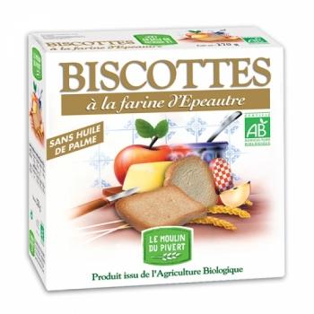 LE MOULIN DU PIVERT - Biscottes à la farine d'épeautre