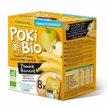 DANIVAL - Poki Bio Pomme Banane x 8
