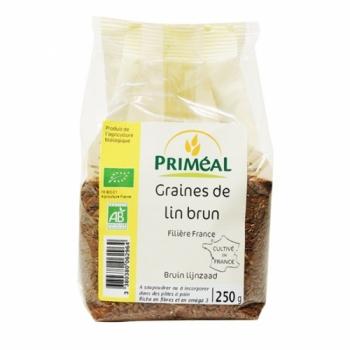 PRIMEAL - Graines de lin brun bio 250 g