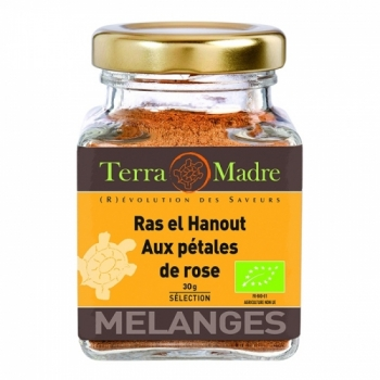 Ras el Hanout aux Pétales de Rose - Mélange d'épices bio pour Couscous, Tajines ou Légumes à l'orientale