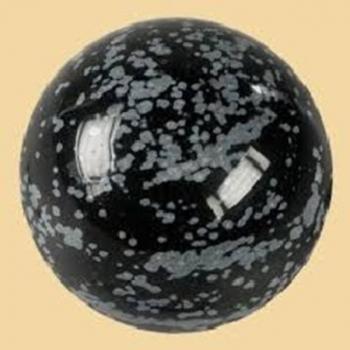 Sphère Obsidienne Neige