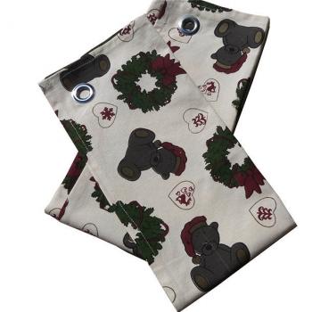 Torchons x 2 ( 50x70 cm )- coton bio- Imprimé de Noël- Fond beige
