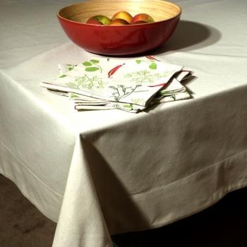 Nappe Rectangulaire ( 150X250 cm ) - coloris écru - coton bio