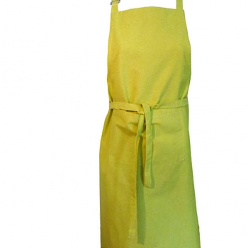 Tablier de cuisine ( 1Mx1M ) - coloris vert anis - coton biologique