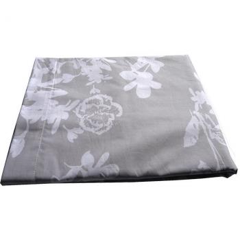 Drap de dessus en coton bio ( 180x300 cm )- pour lit 1 pers.- coloris gris