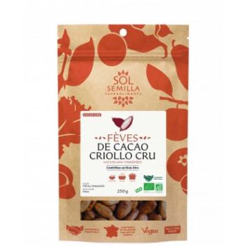 Cacao Criollo Cru BIO Fair Trade - Fèves - 250g