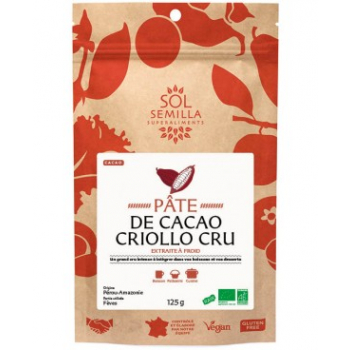 Cacao Criollo BIO Cru - Pâte - 125g