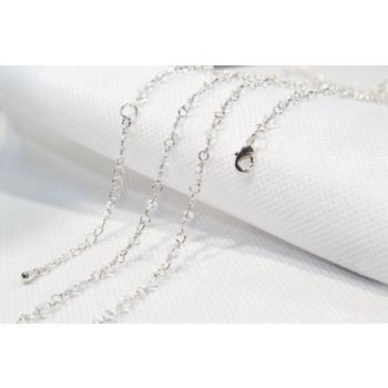 Chaine Bola argent perlée  - 114cm