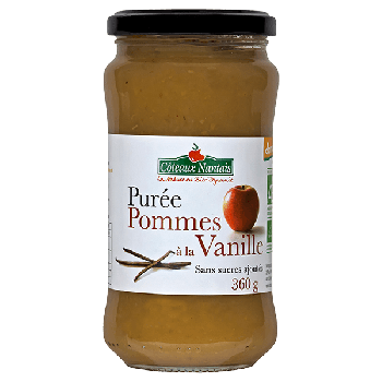 Purée pommes vanille 360 g Demeter