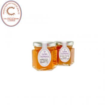 Confitures abricots du Gard à la vanille et coing-poire aux épices et au Grand Marnier - 100g