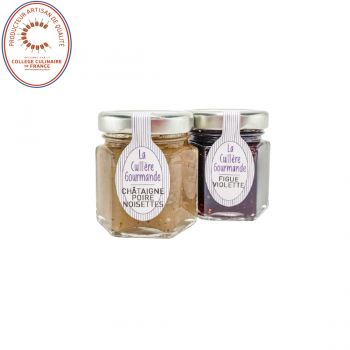 Confitures châtaignes poires noisettes et figues Violette - 100g