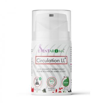 Crème 100% naturelle CIRCULATION LL+ BIO 50ml -jambes légères et plus toniques.