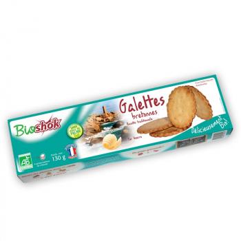 BIO SHOK - galette bretonne pur beurre 130g, sans huile de palme