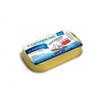 CAPITAINE NAT - anchois entiers au naturel boite 1/10 69g