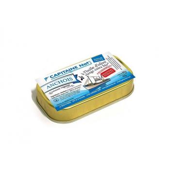 CAPITAINE NAT - anchois entiers huile d'olive boite 1/10 69g