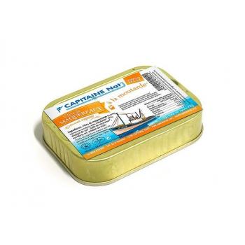 CAPITAINE NAT - maquereaux filets moutarde boite 1/6 115g