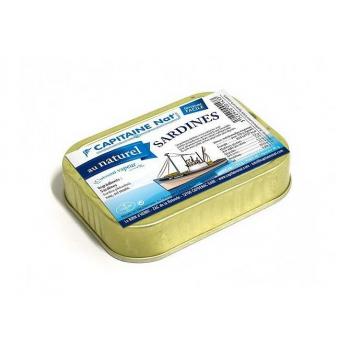 CAPITAINE NAT - sardines au naturel boite 1/6 115g