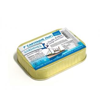 CAPITAINE NAT - sardines huile d'olive boite 1/6 115g