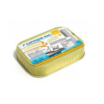 CAPITAINE NAT - sardines huile d'olive/ citron boite 1/6 115g