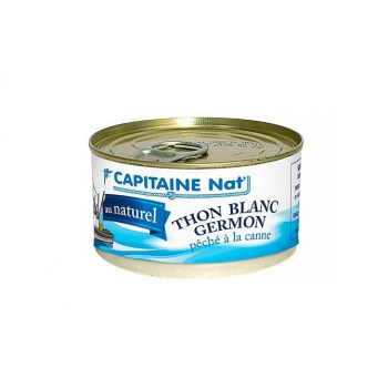 CAPITAINE NAT - thon blanc germon au naturel boite 1/16 139g