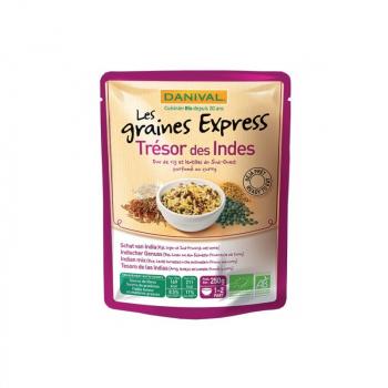 DANIVAL - trésor des indes (riz basmati, riz rouge, lentilles et raisins secs) 250g