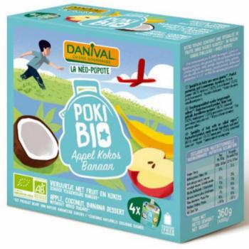 DANIVAL - poki pomme coco banane 4x90g