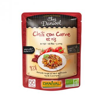 Chili con carne et riz bio