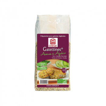 CELNAT - préparation pour galettes veggie avoine et azukis