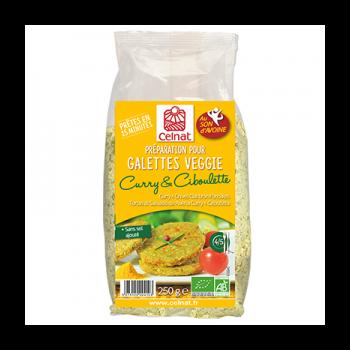 CELNAT - préparation pour galettes veggie son d'avoine - curry et ciboulette