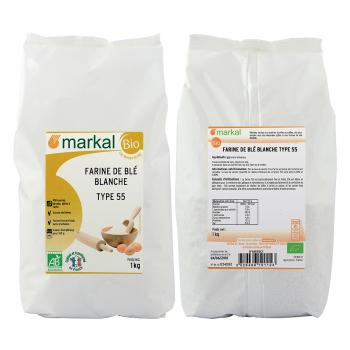 MARKAL - farine de blé - type 55 blanche patissière