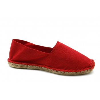 Espadrilles Unies Rouge - Made in France