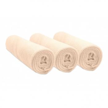 Lot de 3 housses pour matelas à langer en Éponge Coton Bio 50x70 / 55x75 / 50x80